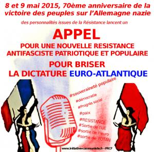 Appel résistance contre l'Union Européenne 2015