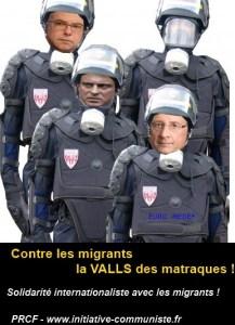 La Valls des matraques contre les migrants #valls #répression – communiqué du PRCF