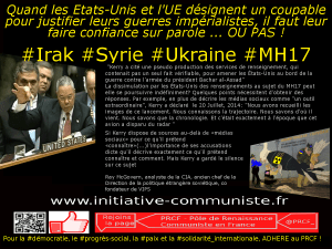 USA renseignement MH17 syrie guerre