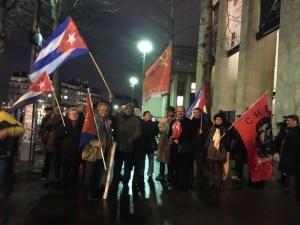 Le PRCF salue Raul Castro à Paris !