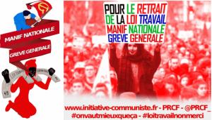 loi travail manif nationale grève générale