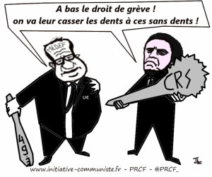 valls hollande matraque grève