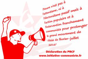 déclaration du PRCF luttes aout 16