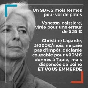 Affaire Tapie : Justice de classe dispensant Lagarde de peine et colère populaire. 200 000 signatures pour un vrai procès !