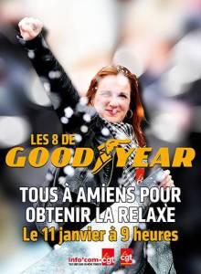 Relaxe pour les Goodyear ! tous mobilisés le 11 janvier !
