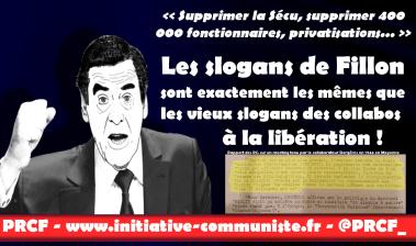 Le programme de Fillon ? les même vieilles mesures que la droite collaborationniste de Vichy ! dans - CNR