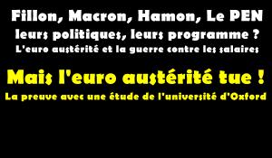L'austérité tue : la preuve avec une étude de l'université d'Oxford. dans - EUROPE