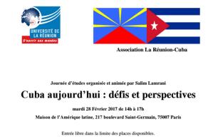 Cuba aujourd'hui : défis et perspectives – conférence débat à Paris