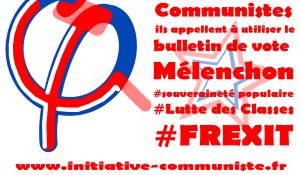 Communistes, comme le PRCF, ils appellent à utiliser le bulletin de vote Mélenchon.