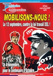 """IC n°184 est paru """"Mobilisons nous ! le 12 septembre contre la loi travail XXL"""""""