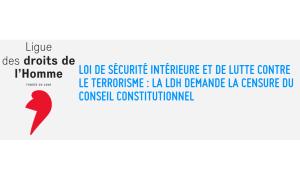 La Ligue des Droits de l'Homme demande la censure de la loi liberticide établissant l'état d'urgence permanent