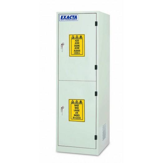 armoire de stockage produits chimiques et corrosifs superposee