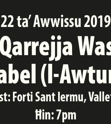 Il-Qarrejja Waslu Qabel (l-Awturi) 2019 – Testi