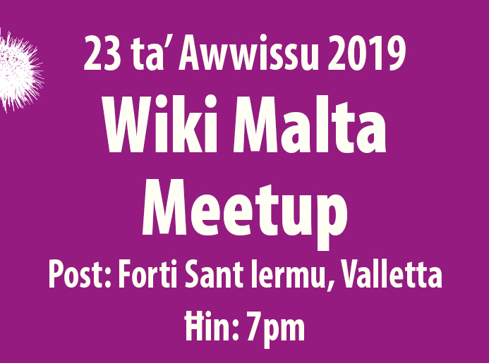 MMLF2019 - 23 Aug - Wiki Malta Event