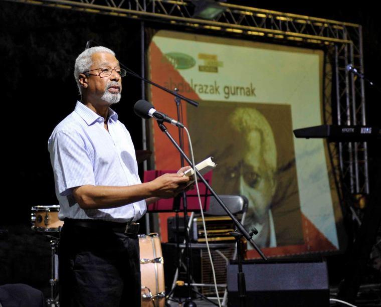 Abdulrazak Gurnah waqt il-Festival Mediterranju tal-Letteratura ta' Malta 2014. Ritratt ta' Gilbert Calleja.
