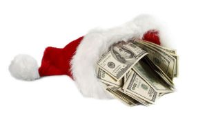 Santa's got a brand new bag of cash