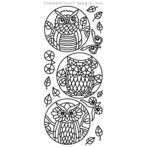 Owl Circles Peel-Off Stickers – Black