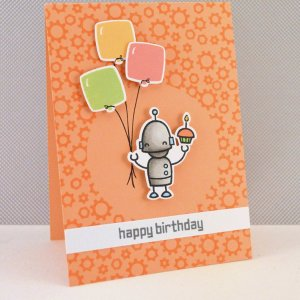 Lawn Fawn Clear Stamps 3″X4″ – Beep Boop Birthday