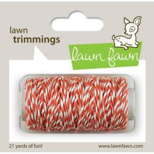 Lawn Trimmings Hemp Cord 21yd – Coral