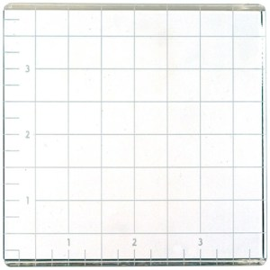 American Crafts Small Acrylic Block W/Grid 4″X4″