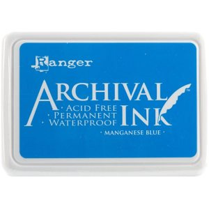 Archival Ink Pad No.0 – Manganese Blue