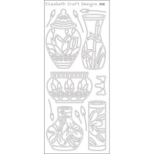 Asian Vases Peel-Off Stickers – Black
