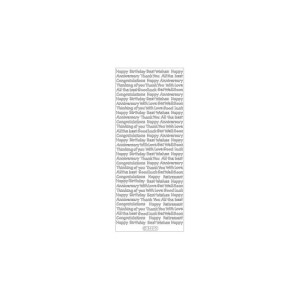 Assorted Words Peel-Off Stickers – Silver