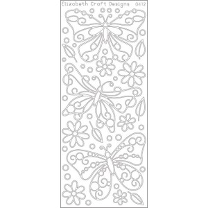 Big Butterflies Peel-Off Stickers – Silver
