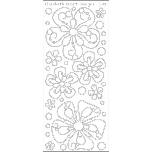 Big Flowers Peel-Off Stickers – Black