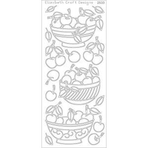Bowl Of Cherries Peel-Off Stickers – Gold