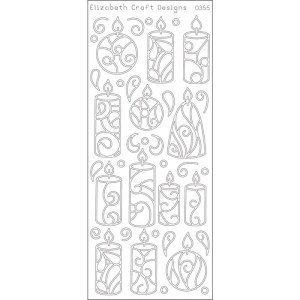 Candles Peel-Off Stickers – Silver
