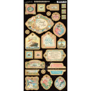 Come Away With Me Chipboard Die-Cuts 6″X12″ Sheet – Decorative