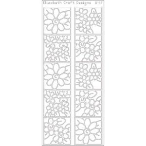 Daisies In Frames Peel-Off Stickers – Black