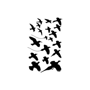 Dina Wakley Stencils Birds in Flight 6″X9″
