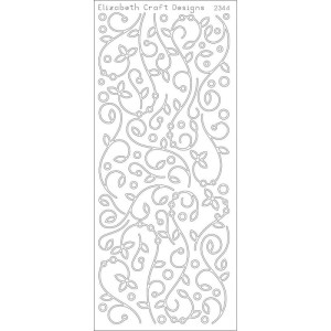 Doodles W/Leaves Peel-Off Stickers – Black
