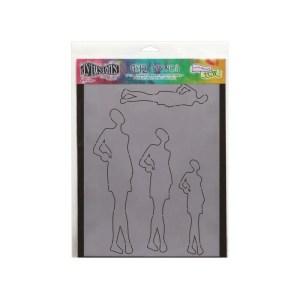 Dyan Reaveley's Dylusions Stencils 9″X12″ – Ruby