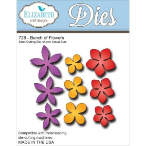 Elizabeth Craft Metal Die – Bunch Of Flowers