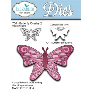Elizabeth Craft Metal Die – Butterfly Overlay 2