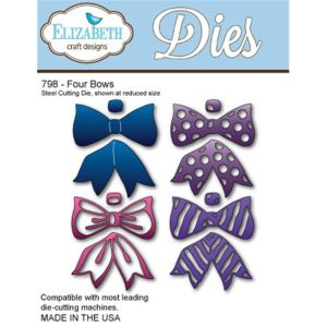 Elizabeth Craft Metal Die – Four Bows