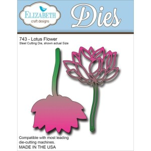 Elizabeth Craft Metal Die – Lotus Flower