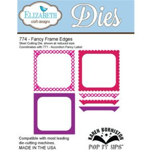 Elizabeth Craft Pop It Up Metal Dies By Karen Burniston – Fancy Frame Edges