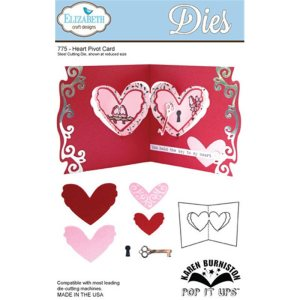 Elizabeth Craft Pop It Up Metal Dies By Karen Burniston – Heart Pivot Card