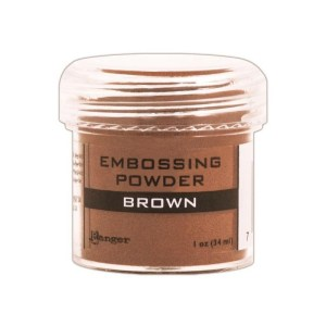 Embossing Powder .56oz Jar – Brown