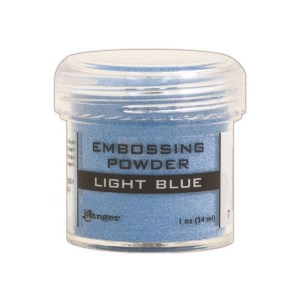 Embossing Powder .56oz Jar – Light Blue
