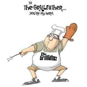Father's Day Cling Rubber Stamp 5″X4″ – Grill Father
