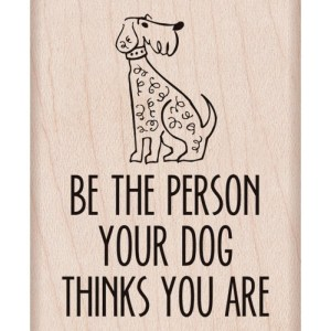 Hero Arts Mounted Rubber Stamps 2.5″X2″ Your Dog Thinks You Are