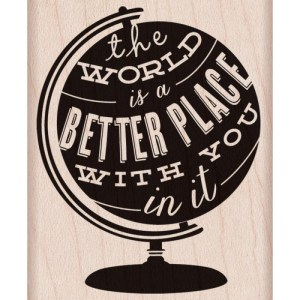 Hero Arts Mounted Rubber Stamps 2.5″X2″ The World