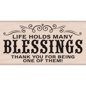 Hero Arts Mounted Rubber Stamps 2″X4″ – Many Blessing's