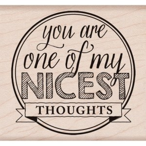 Hero Arts Mounted Rubber Stamps 3″X3.5″ – Nicest Thoughts