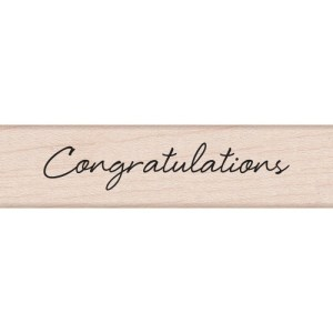 Hero Arts Mounted Rubber Stamps .5″X3″ – Little Greetings Congratulations